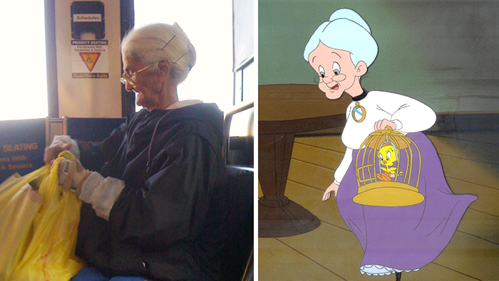 Real life Granny and Granny from Looney Tunes