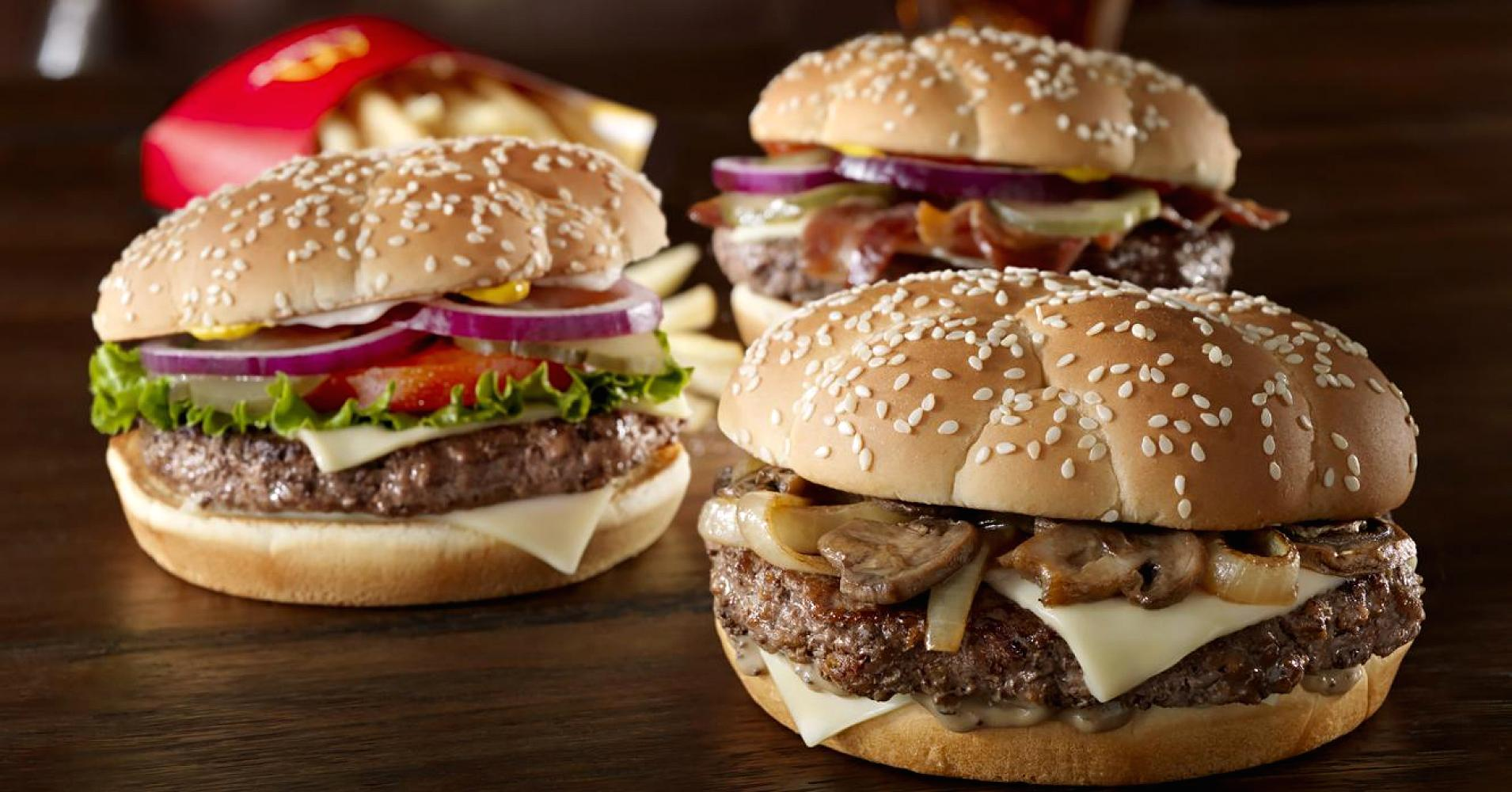 Meat from fast food restaurants' hamburgers