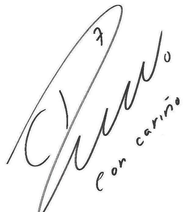 Cristiano Ronaldo's signature