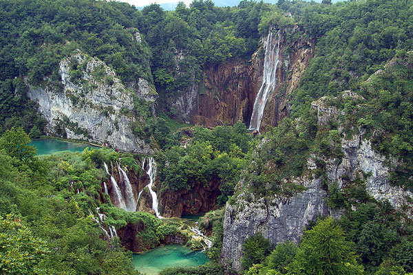 Karst waterfalls, Croatia Limestone