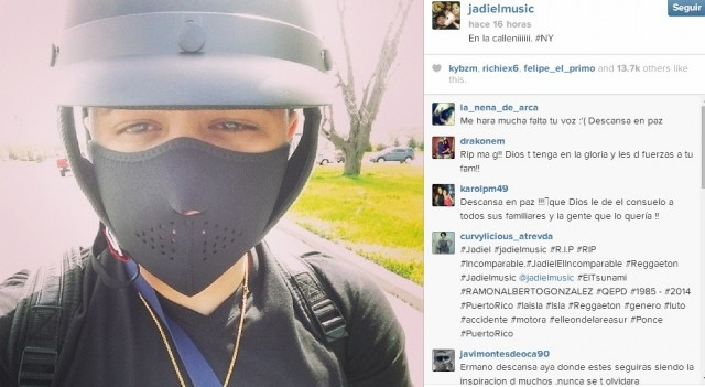 The singer Jadiel, filmed his motorcycle accident