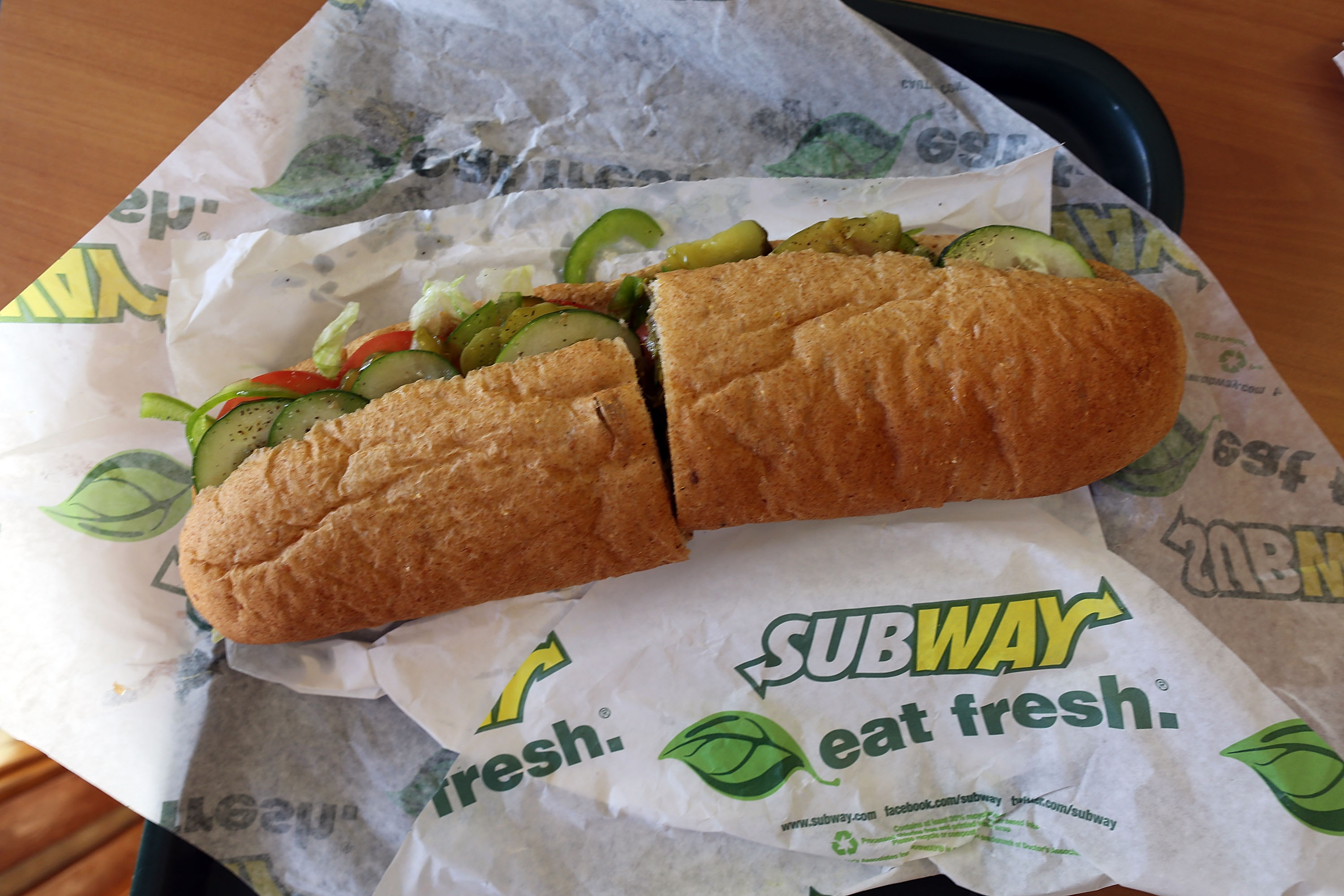 Subway sandwich length