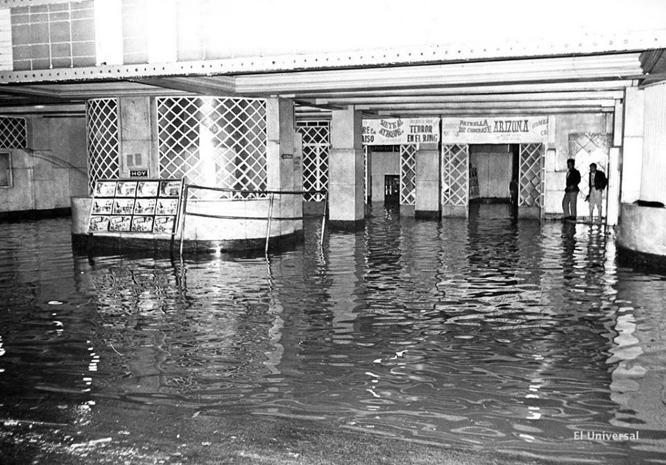 Flood at Ajusco Cinema - 1950