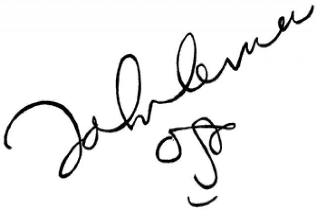John Lennon's signature