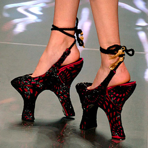Double-heeled shoes