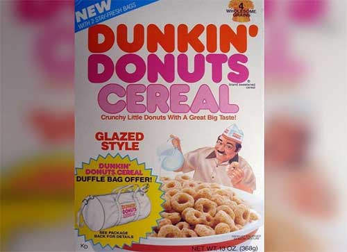 A donut-flavored cereal