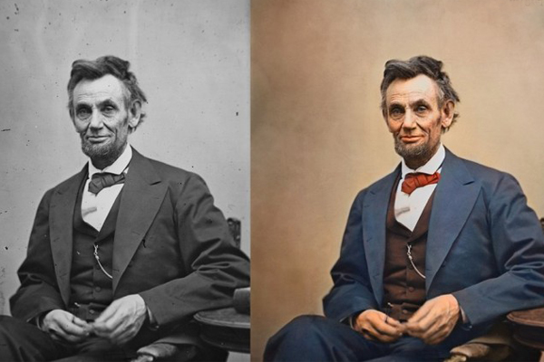 Abraham Lincoln in one of his last photographs