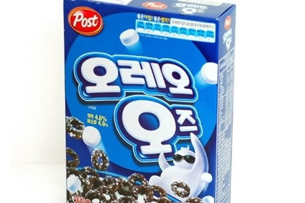 Oreo cereal exists in South Korea