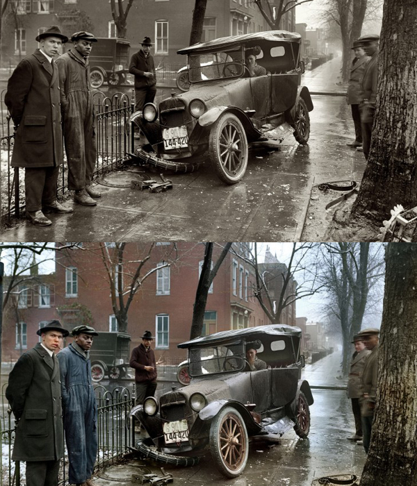1921: A car crash in Washington
