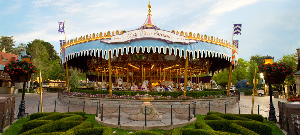 The oldest game is the Carrousel and it is forbidden to ever remove it