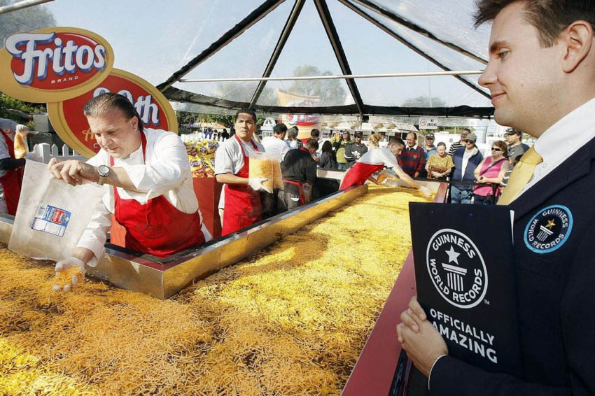 Largest Fritos Chili Pie: Fritos sets world record