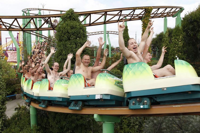 Naked Roller Coaster Guinness World Record