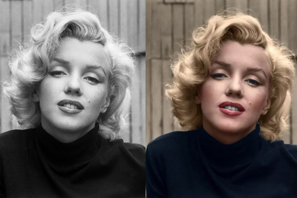 Marilyn Monroe is beautiful with or without color