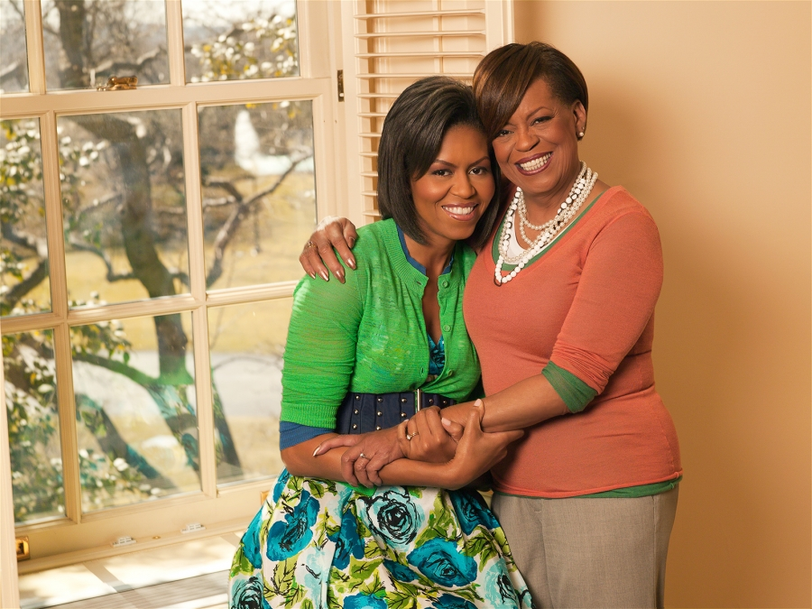 Michelle Obama can't imagine her living without her mom