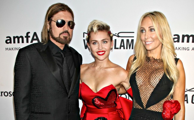 Miley and the relationship with her famous parents