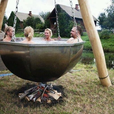 A very creative jacuzzi