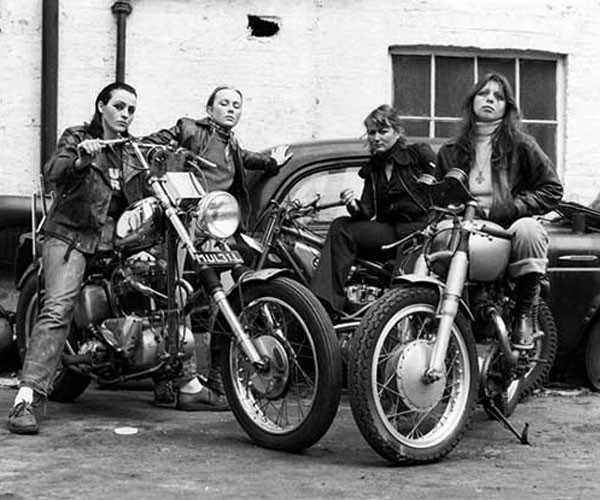 Members of the Hells Angels gang