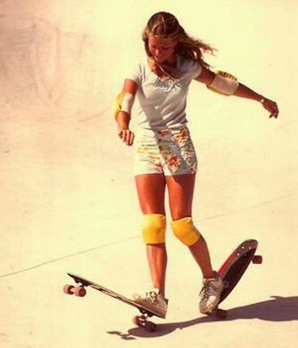 Ellen O'neal, the first skateboarder