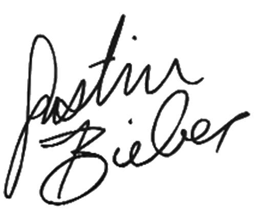 Justin Bieber's signature