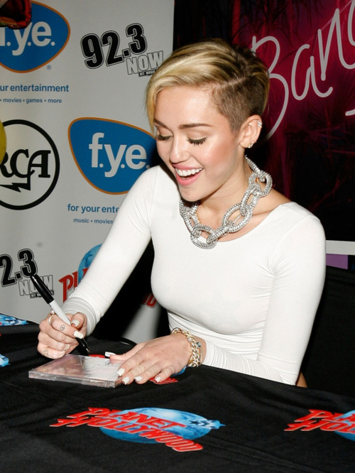 What does the signature of Miley Cyrus mean?