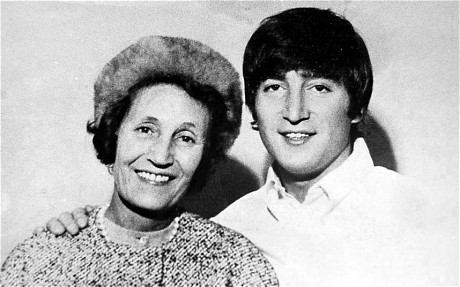 John Lennon and his adoptive mother