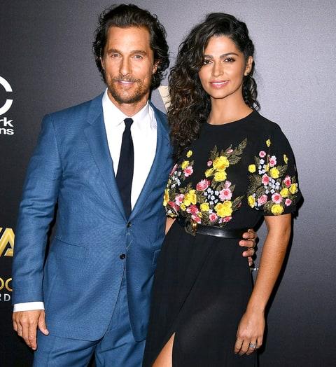 Matthew McConaughey (47) and Camila Alves (35) Matthew McConaughey (47) and Camila Alves (35) Photo: Pinterest.