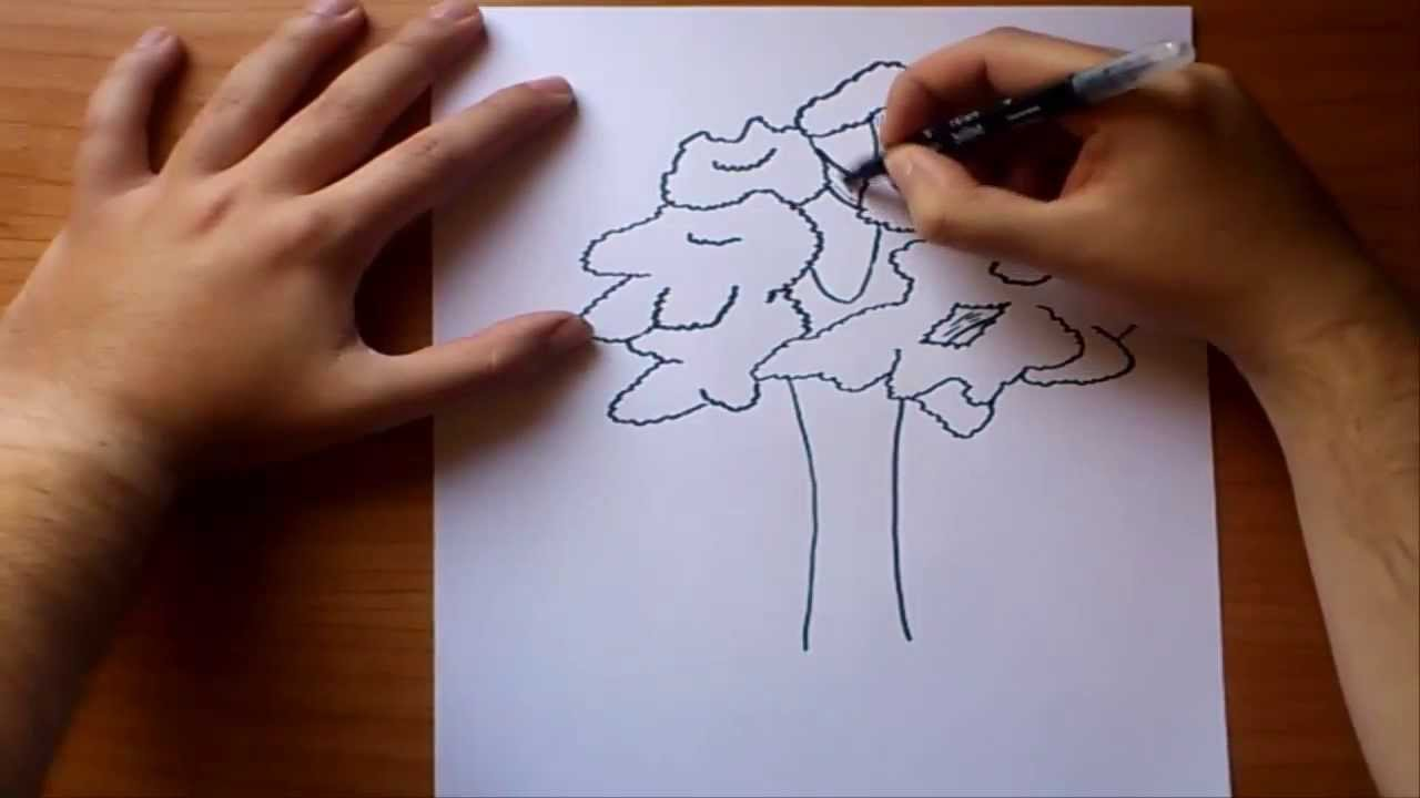 Draw leaves or trees