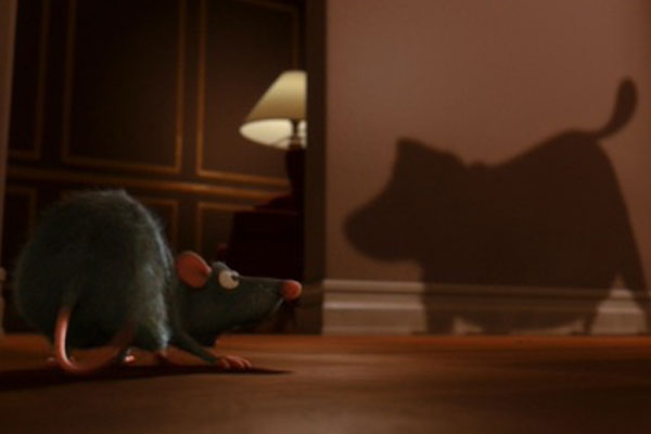 Up's Dog appears in Ratatouille