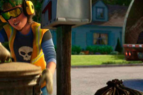Sid, Toy Story's psychotic boy appears in Toy Story 3