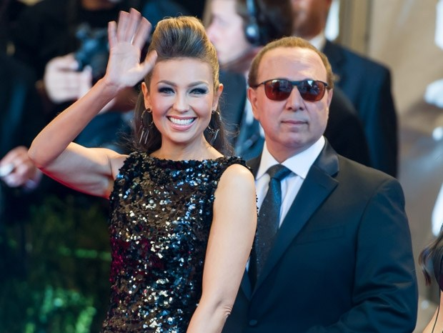 Tommy Mottola (67) and Thalia (45)