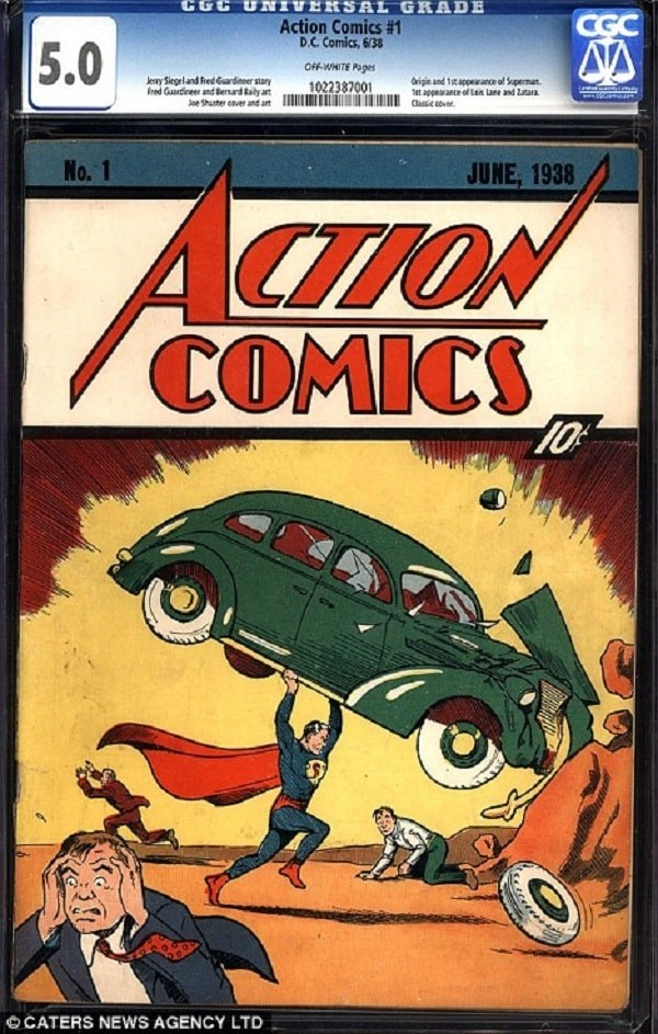 Superman's action comic
