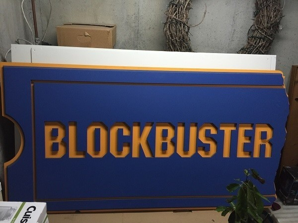 A Blockbuster sign