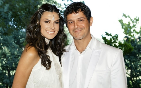 Alejandro Sanz and Raquel Perera Wedding