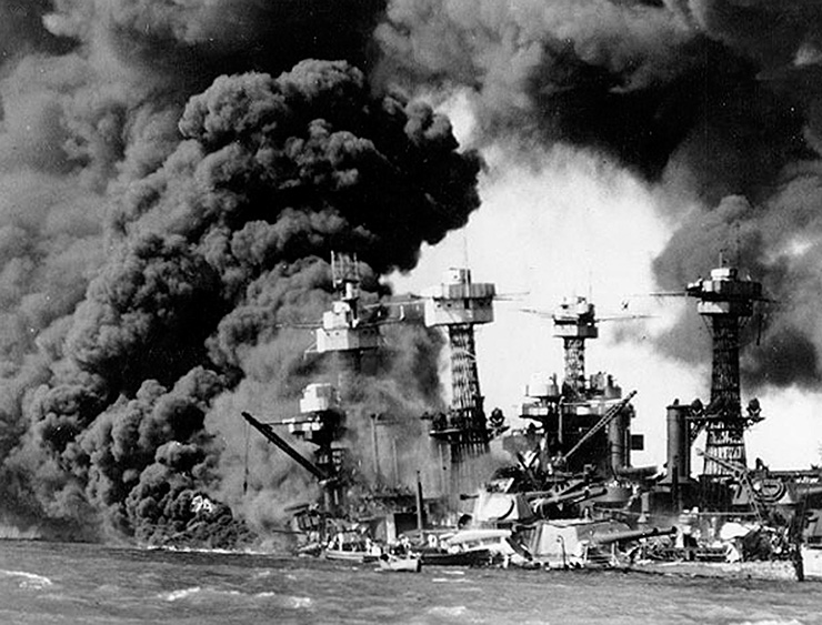 Attack on Pearl Harbor, 1941.
