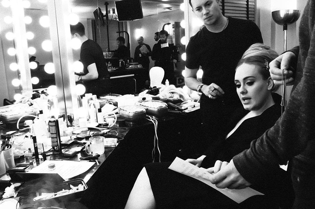 What does Adele asks for her concert?