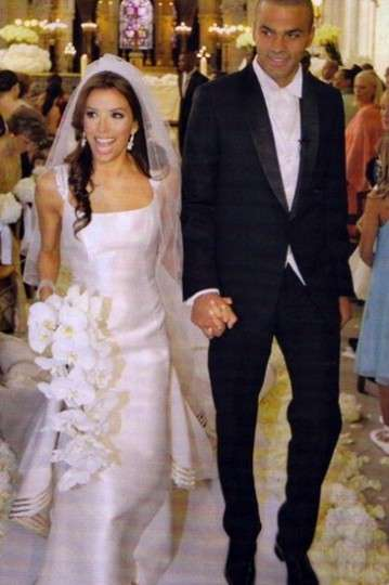 Eva Longoria and her first husband Tony Parker
