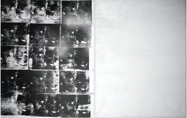 $105.4 million. Silver Car Crash [Double Disaster] by Andy Warhol, 1932.