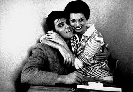 Sophia Loren and Elvis met each other once