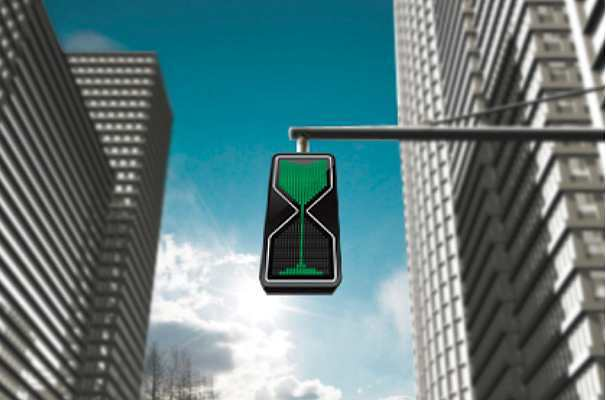 The traffic light hourglass
