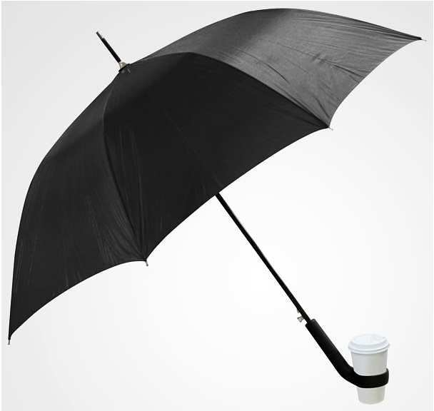 Umbrella with cup holders