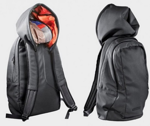 Backpack for travelers with hoodie