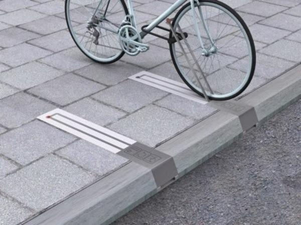 Bike lock in the streets