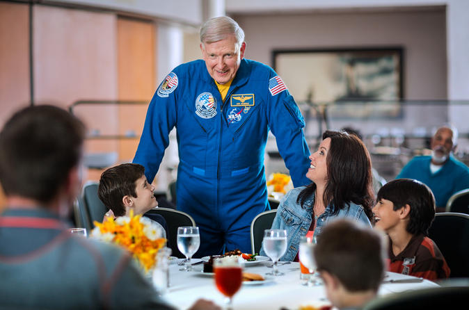 You can buy a dinner with an astronaut at the Kennedy Center