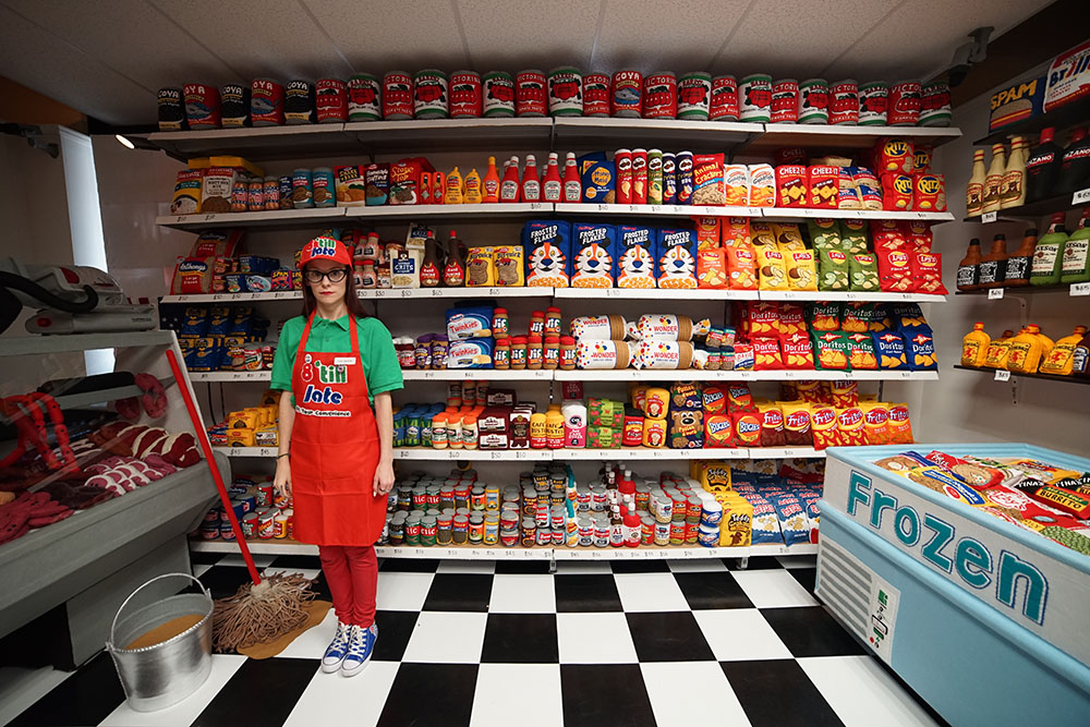 Manhattan is home of a Supermarket where everything is made from Felt