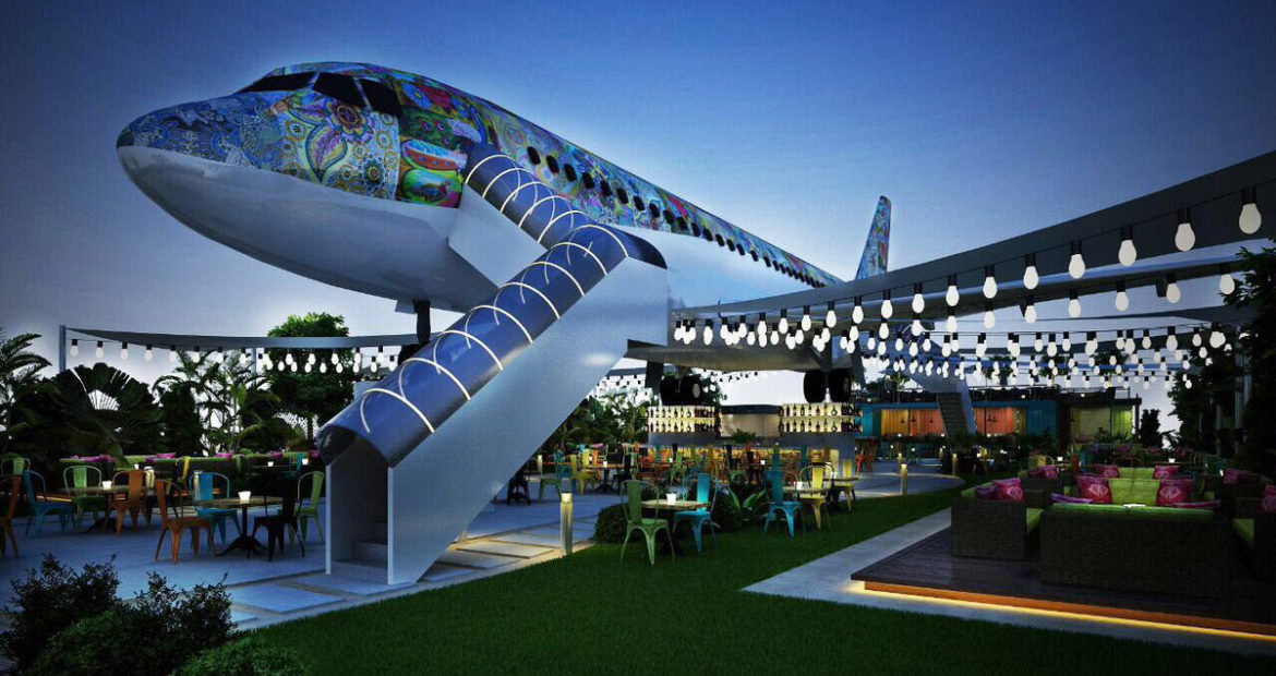 The airplane restaurant in India