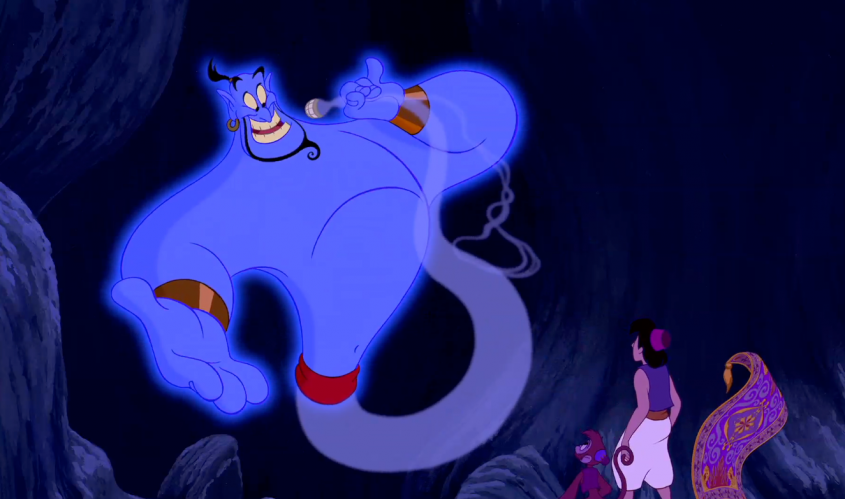 Robin Williams also gave the voice to the Genie of the Lamp