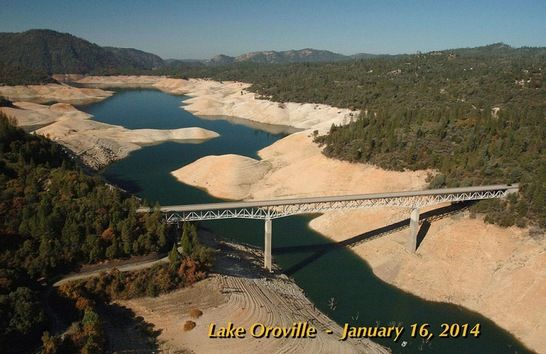 Lake Oroville in 2014