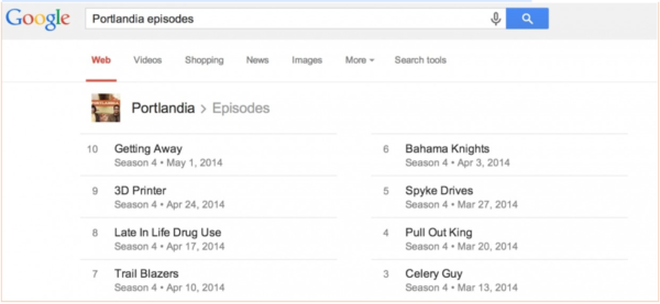 9. Google can tell you when your favorite show is on.