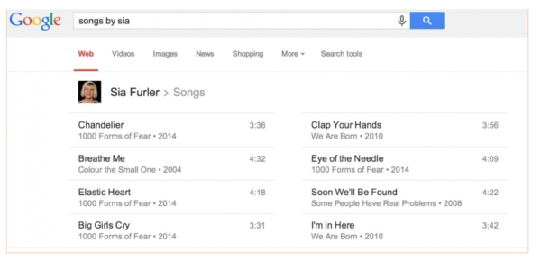 10. You can have Google find songs by bands you like.