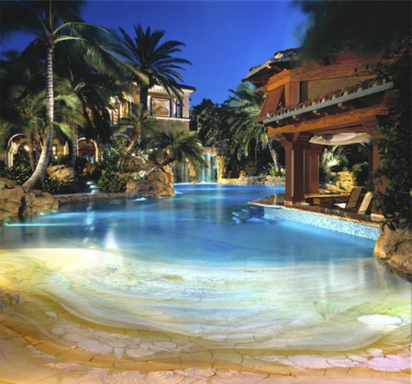Beachy swimming pool